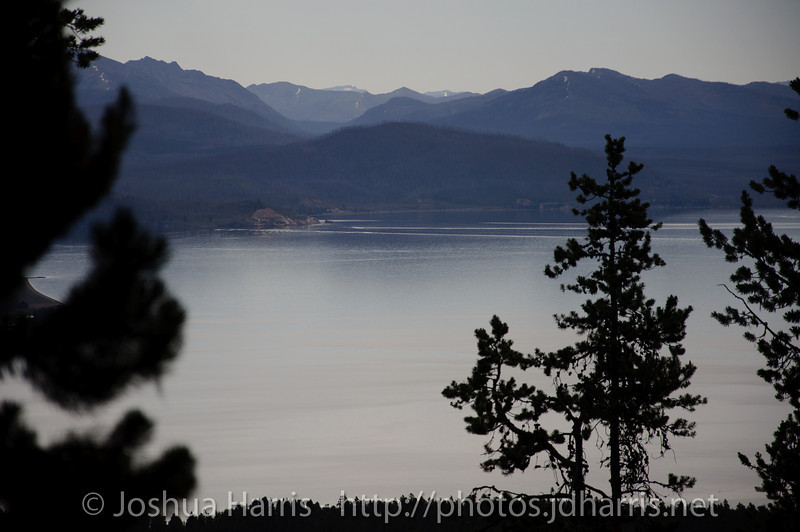 A view over Yellowstone Lake from the Elephant Back trail