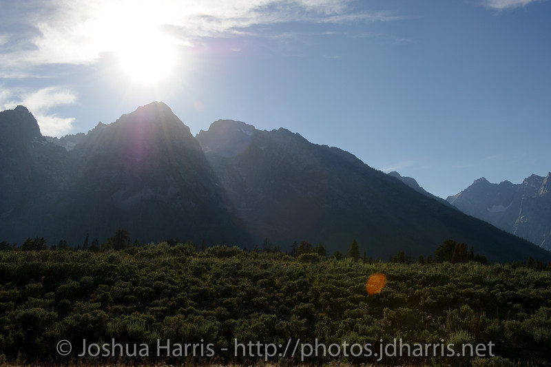 Mid-afternoon with the Grand Tetons by Jackson Hole airport