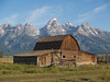 Mormon Barn against the Grand Tetons