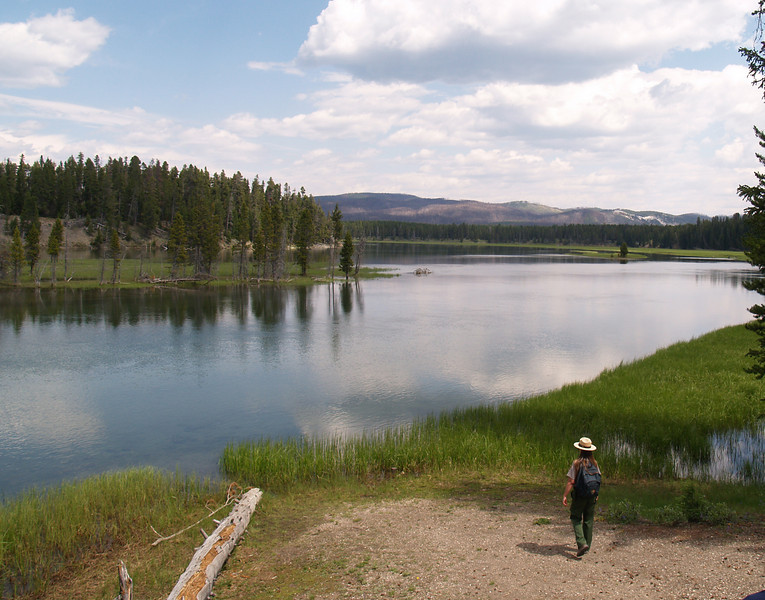 "Yellowstone River South of ""Fishing Bridge"" with the Park Ranger"