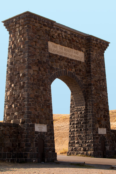 The Roosevelt Arch was our exit out of Yellowstone Park.