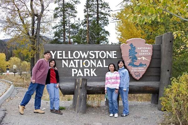 Yellowstone Trip: Sep 23 to  Sep 30 2005