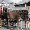 stagecoach pulled by mules