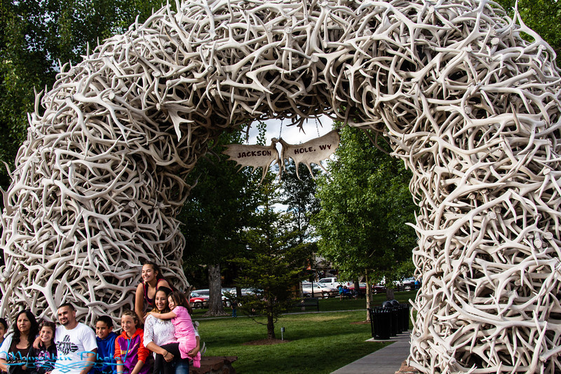 Antler arch in Jackson town square