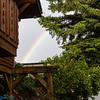 Rainbow out infront of bed and breakfast