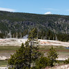 view of old faithful geyser basin