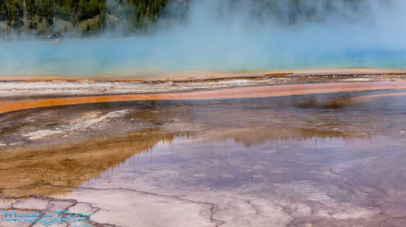 Part of Grand prismatic Hot Springs