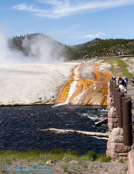 Entrance to were the Grand Prismatic Spring is located