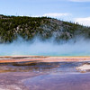 Grand prismatic Hot Springs. It is very large and you need to actually be above it to appreciate the multiple colors.