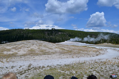 Old Faithful is steaming and about to blow.