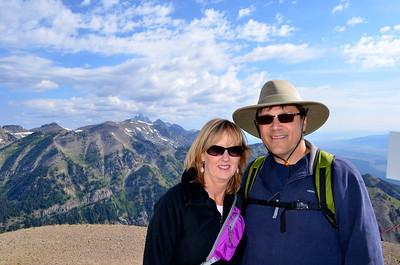 Atop of Jackson Hole Ski Area - Grand Teton Peak in the background.