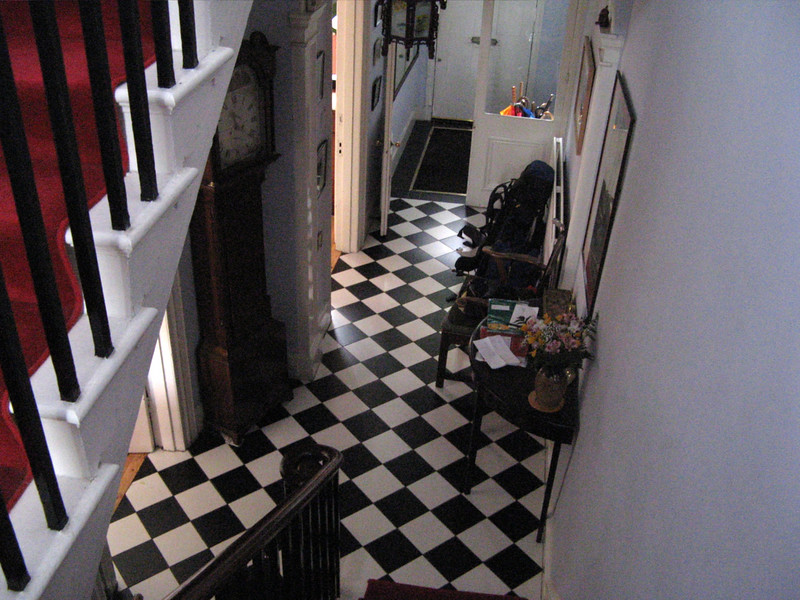 There were many storeys in the S's house where we stayed.  One..