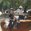 All loaded up on Shiner - ready for Kyle's first 'horseback' ride - 2 hours to Mirror Lake (whis is not a lake any more).