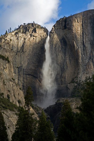 Yosemite Falls in the morning