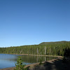 shoshone lake at dawn...we started this hike in the dark to get to the lake early...alas, no moose