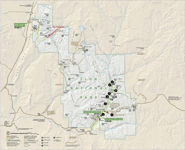 Zion Trial Map - La Verkin Trail
