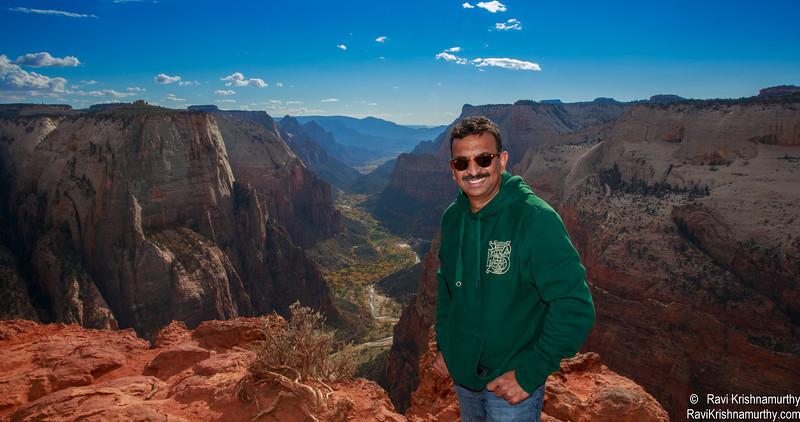 At Observation point - Zion National Park - Utah