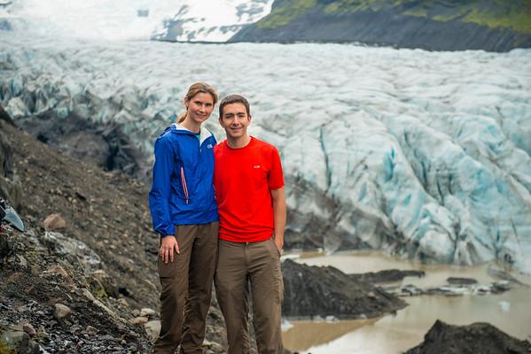 Andy and Amanda at the Skaftafell glacier