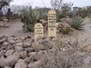 Closeup of Tom McLaury's grave
