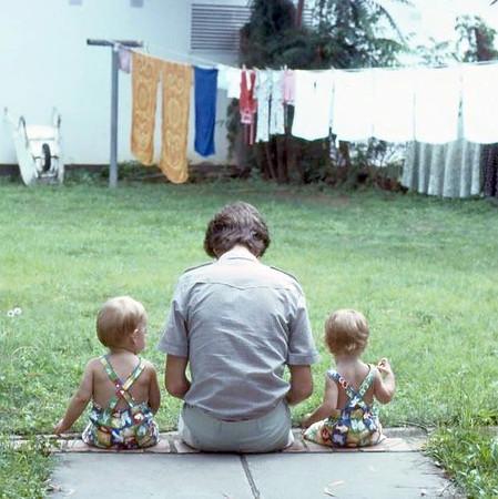 Where it all began. In the backyard of Liberia Street, Kitwe, 1979.