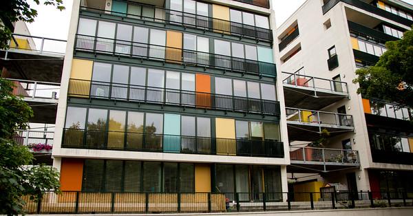 Apartment buildings in Dublin