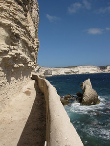 There are 187 steps cut into the cliffs that lead down to this walk way.