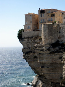 Old Town Bonifacio hanging over the Cliffs