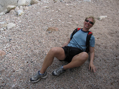 Tripping on that Red rock - ouch!