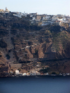 That Zig Zag is the 588 steps up the mountain to Thira