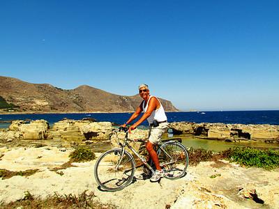 Biking Favignana Island.