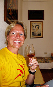 Marsala wine tasting - do I look smashed???  Is that my sister in that picture????