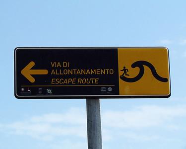 Tsunami escape route.  Run like hell!