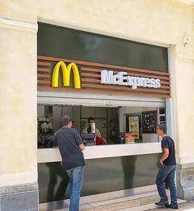A walk through McDonald's!  And no annoying speaker!