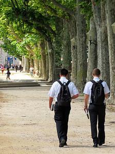 Future Mitt Romneys?  Morman missionaries in France.