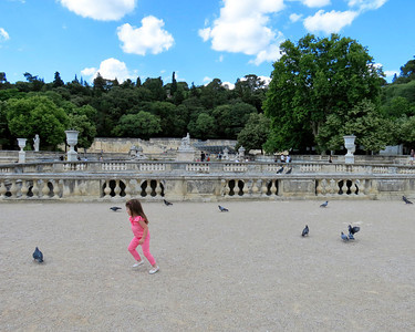 So many Pigeons to chase! - Jardin de la Fontaine, Nimes
