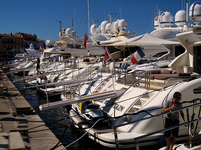 Yachts in St. Tropez port