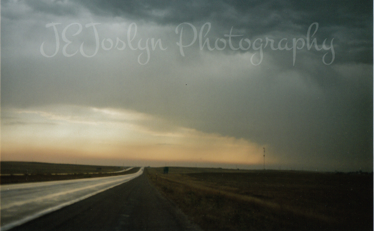 The rain covered this stretch of hwy 90 in South Dakota, as you can see a sad prairie without the grandchildren that traveled this road last year with me.