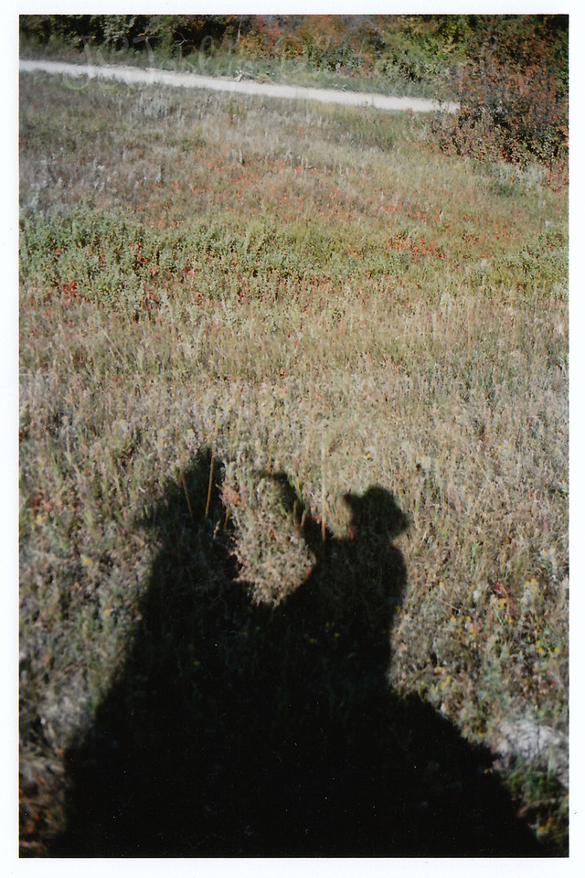 ME, and my shadow, while at Eatons' Ranch, Wolf, Wyoming - Big Horn Mountains