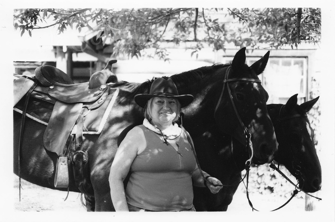 Me, Kip getting ready for another great ride at Eatons' Ranch, Wolf, Wyoming - Big Horn Mountains