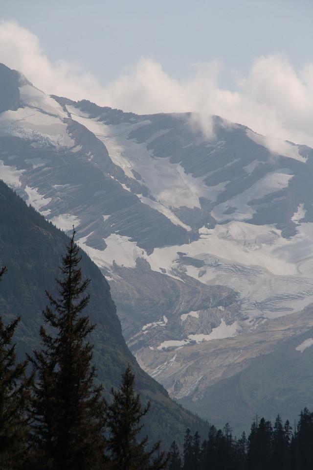 Glacier, MT-RedBus Tour Sights.   Jackson Glacier........one of the few left in the Park.