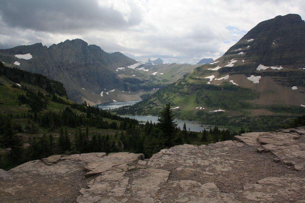 Glacier Park - Logan Pass  - Hidden Lake and Bearhead Mountain at right.    8-2009