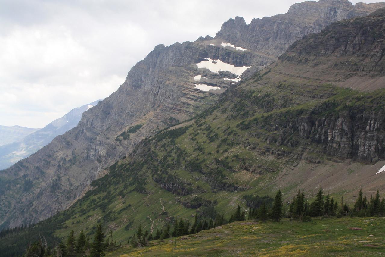 Glacier Park - Logan Pass structures.    8-2009