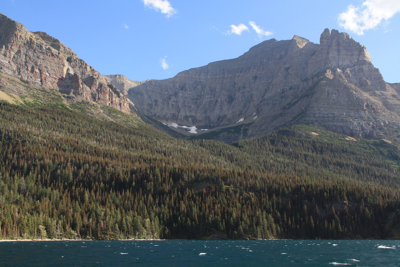 Glacier Park. St. Mary's Lake, from Boat tour.  8-2009