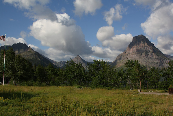 Glacier Park-Two Medicine range - Sinopah Mountain on the right, in libraryphoto.cr.usgs.gov, this is called Mount Rockwell. 8-2009