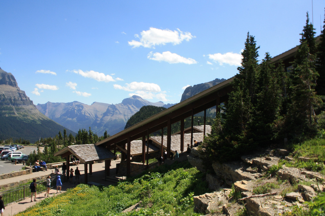 Glacier Park - Logan Pass Visitor Center walkway.   8-2009