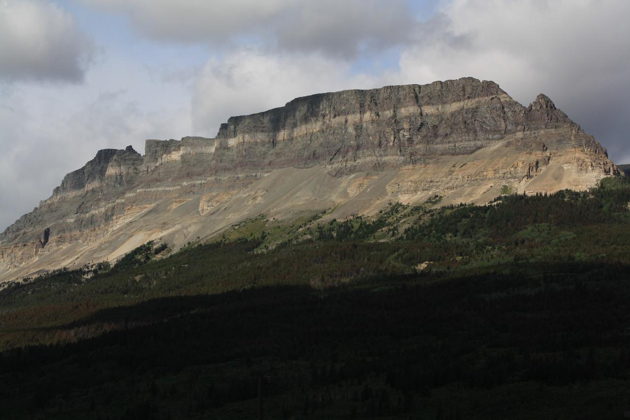 Glacier Park, MT   St. Mary's Visitor Center views.  8-2009  Singleshot Mountain