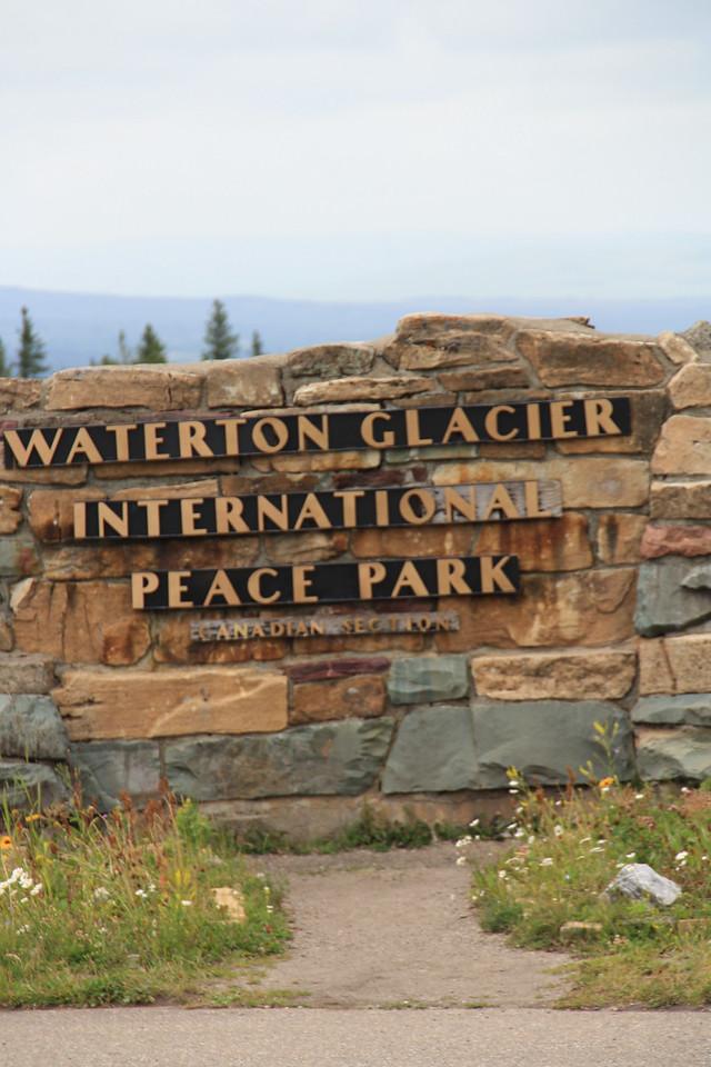 Glacier Park.  Red Bus Tour to Waterton Glacier International Peace Park.   8-2009