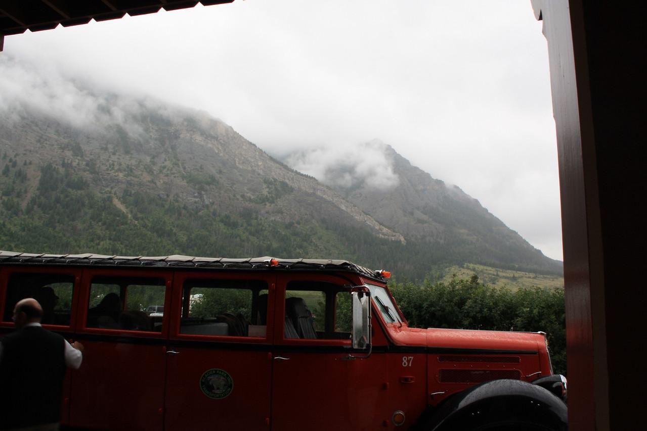 Glacier Park.  Red Bus Tour to Waterton Glacier International Peace Park.  Prince of Wales Hotel  8-2009