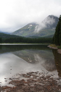 Glacier Park.  Fishercap Lake, study in reflections.   8-2009