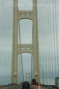 Mackinac Bridge - Upper/lower Michigan, bicycle trip with Cousins and Friends, including the Mackinac Island.